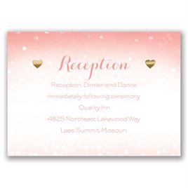 Heart and Home - Gold - Foil Reception Card