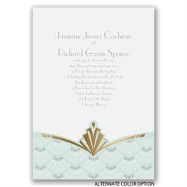 Gatsby Style - Gold - Foil Invitation