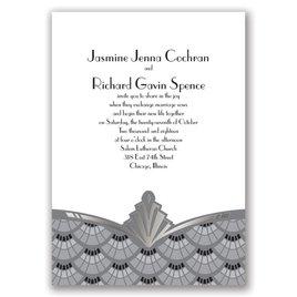 Gatsby Style - Silver - Foil Invitation