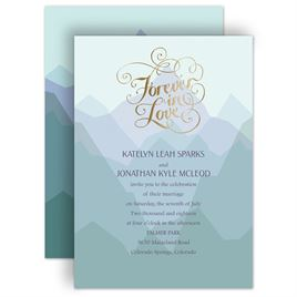 Mountain Wedding Invitations: 