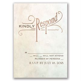 Simply Dreamy - Rose Gold - Foil Response Card