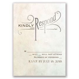 Simply Dreamy - Silver - Foil Response Card