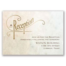 Simply Dreamy - Gold - Foil Reception Card