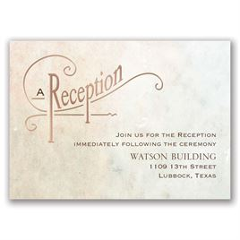 Simply Dreamy - Rose Gold - Foil Reception Card