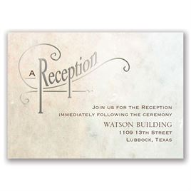 Simply Dreamy - Silver - Foil Reception Card