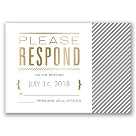 Pinstriped Perfection - Gold - Foil Response Card