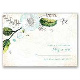Delicate Creations - Silver - Foil Response Card