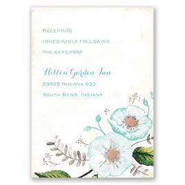 Delicate Creations - Rose Gold - Foil Reception Card