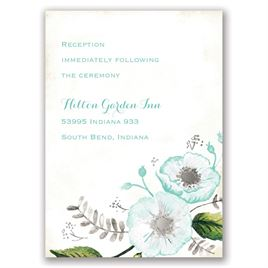Delicate Creations - Silver - Foil Reception Card