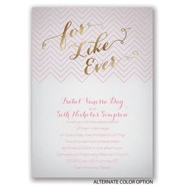 For Like Ever - Gold - Foil Invitation
