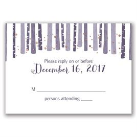 Woodland Snowfall - Rose Gold - Foil Response Card