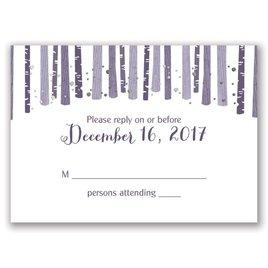 Woodland Snowfall - Silver - Foil Response Card