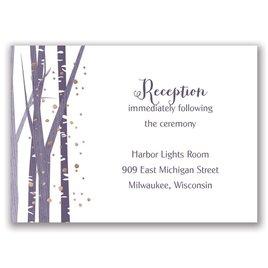 Woodland Snowfall - Rose Gold - Foil Reception Card