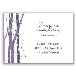 Woodland Snowfall - Silver - Foil Reception Card