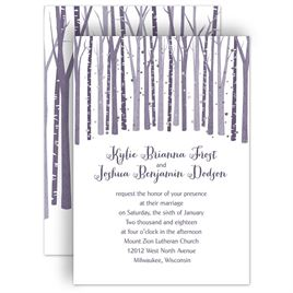 Tree Wedding Invitations: 