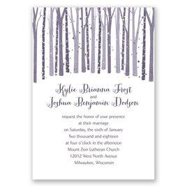 Woodland Snowfall - Silver - Foil Invitation
