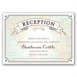 Taking Flight - Rose Gold - Foil Reception Card