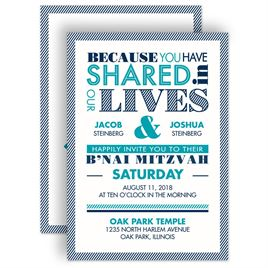 Bar and Bat Mitzvah Invitations: 