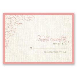 Floral Linen - Response Card
