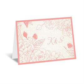 Floral Linen - Thank You Card