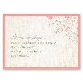 Floral Linen - Reception Card