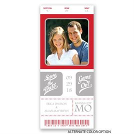 Sports Ticket - Save the Date Card