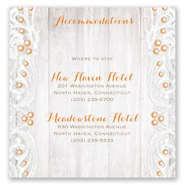 Country Affair - Pocket Accommodations Card