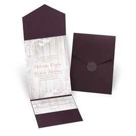 Country Affair - Eggplant - Pocket Invitation