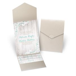 Country Affair - Gold Shimmer - Pocket Invitation