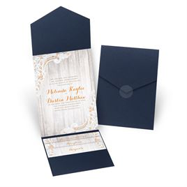 Country Affair - Navy - Pocket Invitation