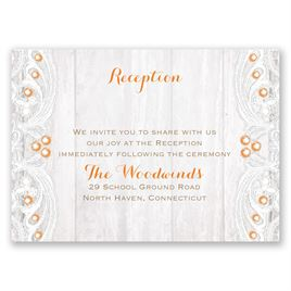 Country Affair - Reception Card