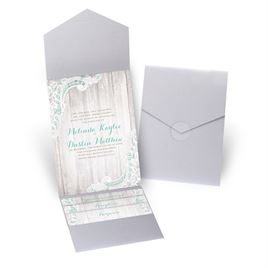 Country Affair - Silver Shimmer - Pocket Invitation