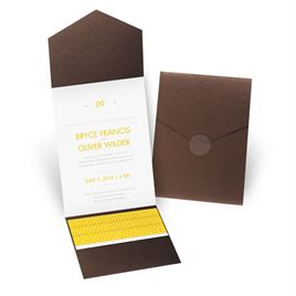 Modern Dream - Brown Shimmer - Pocket Invitation