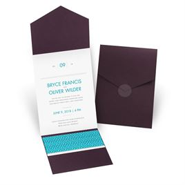 Modern Dream - Eggplant - Pocket Invitation