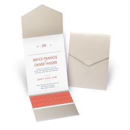 Modern Dream - Gold Shimmer - Pocket Invitation