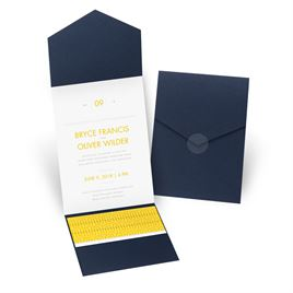 Modern Dream - Navy - Pocket Invitation