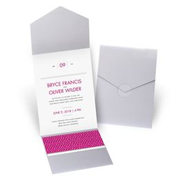 Modern Dream - Silver Shimmer - Pocket Invitation