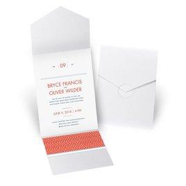 Modern Dream - White Shimmer - Pocket Invitation