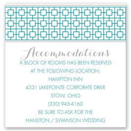 Geo Chic - Pocket Accommodations Card