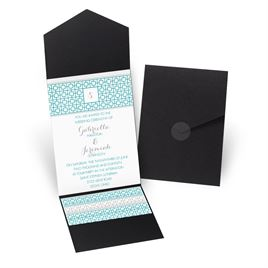 Geo Chic - Black - Pocket Invitation