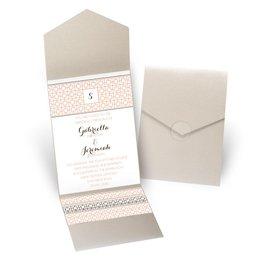 Geo Chic - Gold Shimmer - Pocket Invitation