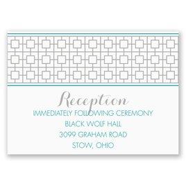 Geo Chic - Reception Card