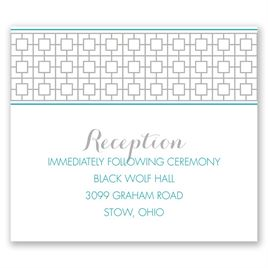 Geo Chic - Pocket Reception Card