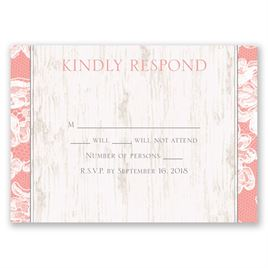 Lace Love - Response Card