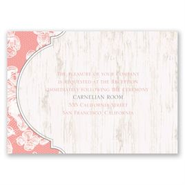 Lace Love - Reception Card