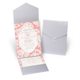 Lace Love - Silver Shimmer - Pocket Invitation