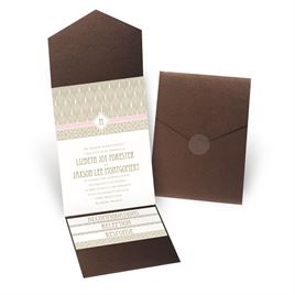 Sweet Romance - Brown Shimmer - Pocket Invitation
