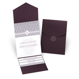 Sweet Romance - Eggplant - Pocket Invitation