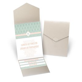 Sweet Romance - Gold Shimmer - Pocket Invitation