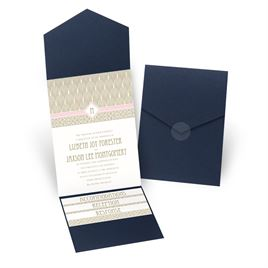 Sweet Romance - Navy - Pocket Invitation